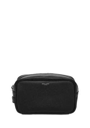 Logo Leather Toiletry Bag
