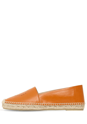 10mm Faux Leather Espadrilles
