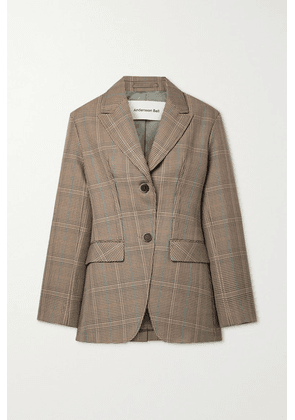 Andersson Bell - Tate Houndstooth Wool-blend Blazer - Light brown