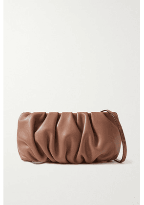 STAUD - Bean Gathered Leather Shoulder Bag - Tan