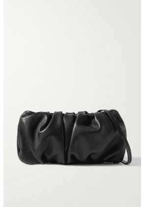 STAUD - Bean Gathered Leather Shoulder Bag - Black