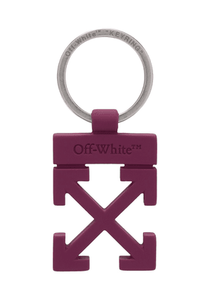 Off-White Arrows motif keyring - Purple