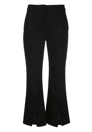 Adam Lippes tropical bell cropped trousers - Black