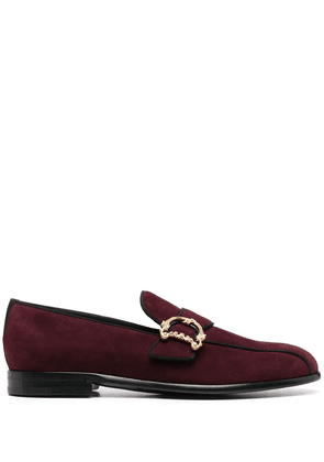 Dolce & Gabbana baroque logo-plaque loafers - Red