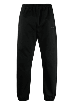 Off-White OW logo cuffed trousers - Black