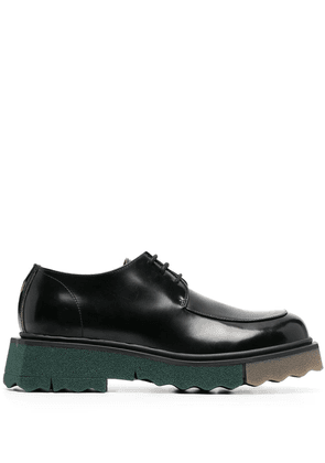 Off-White sponge sole leather Derby shoes - Black