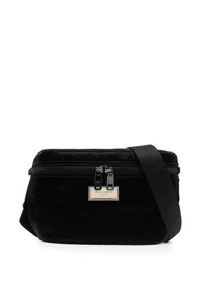 Dolce & Gabbana logo-plaque belt bag - Black