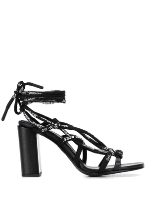 Off-White ankle-tie strappy sandals - Black