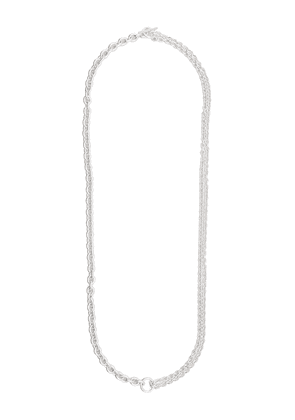 All Blues two chained necklace - Silver