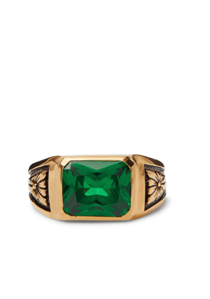MAPLE - Midnight Gold-Plated Emerald Signet Ring - Men - Gold