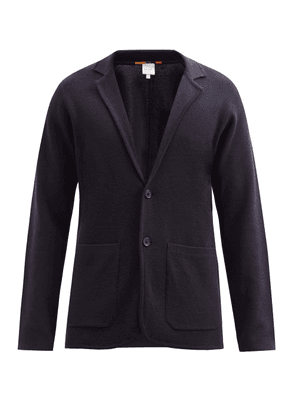 Paul Smith - Single-breasted Wool Cardigan - Mens - Navy