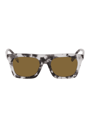 Burberry Grey Marble Rectangular Sunglasses