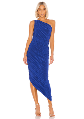 Norma Kamali Diana Gown in Blue. Size S.