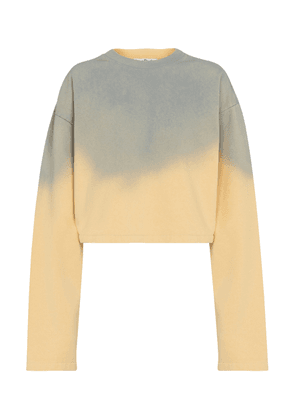 Tie-dye cropped cotton sweatshirt