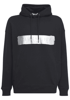 Latex Logo Cotton Sweatshirt Hoodie