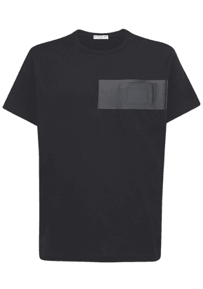 Logo Bonded Patch Logo Cotton T-shirt