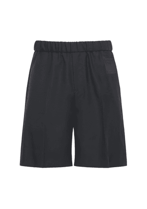 Bonded Patch Wool Twill Shorts