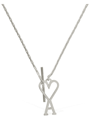 Logo Chain Metal Necklace