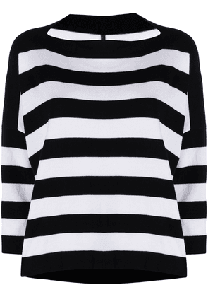 Daniela Gregis boat neck striped top - White