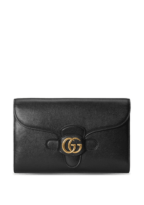 Gucci Double G leather clutch - Black