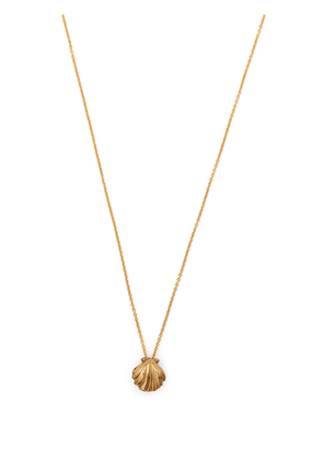 Saint Laurent shell-pendant necklace - Gold