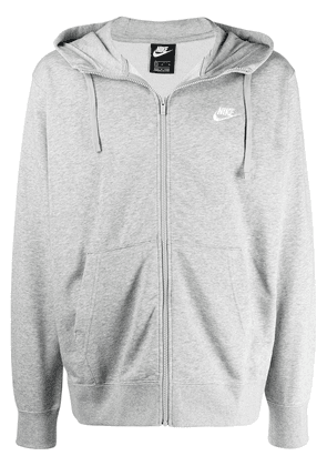 Nike Club fleece front zip hoodie - Grey