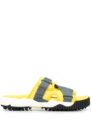 Off-White Oddsy touch strap sliders - Yellow