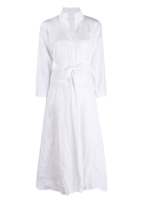 Daniela Gregis creased cotton shirt dress - White