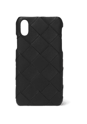 BOTTEGA VENETA - Intrecciato Leather iPhone X Case - Men - Black - one size