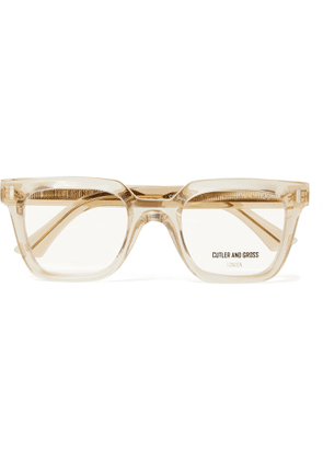 CUTLER AND GROSS - 1305 Square-Frame Acetate Optical Glasses - Men - Yellow