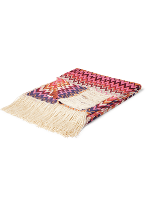 Missoni Home - Margot Fringed Crochet-Knit Throw - Men - Multi