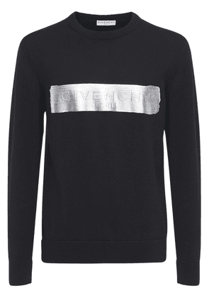 Latex Logo Knit Wool Sweater