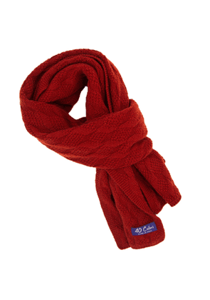 40 Colori - Red Rhombus Wool & Cashmere Scarf