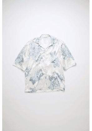Acne Studios FN-WN-BLOU000518 Blue Pleated floral shirt