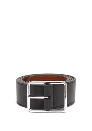 Alexander Mcqueen - Reversible Leather Belt - Mens - Black