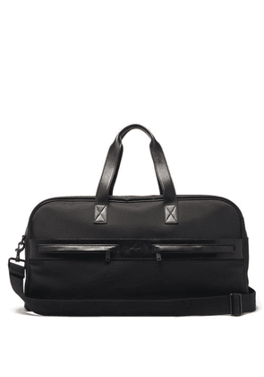 Saint Laurent - Leather-trimmed Canvas Holdall - Mens - Black
