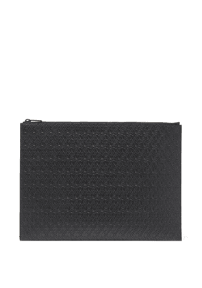 Saint Laurent - Ysl-debossed Large Leather Pouch - Mens - Black