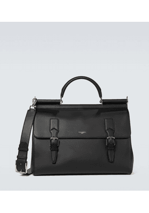 Monreale leather briefcase
