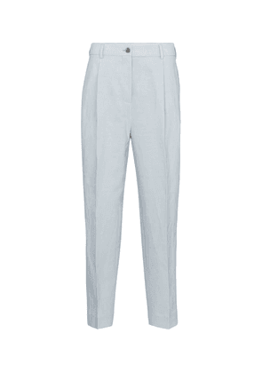 Cropped linen and cotton pants
