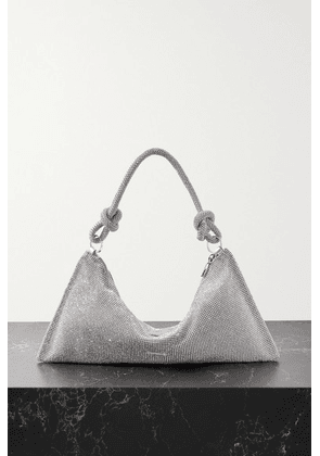 Cult Gaia - Hera Mini Crystal-embellished Satin Shoulder Bag - Silver