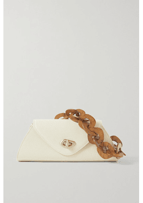 Cult Gaia - Serena Embellished Textured-leather Shoulder Bag - Off-white