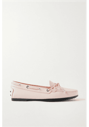 Tod's - City Gommino Textured-leather Loafers - Baby pink