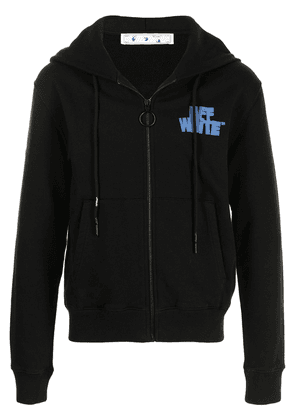 Off-White Hand Off print zipped hoodie - Black