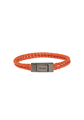 Prada braided logo bracelet - Orange