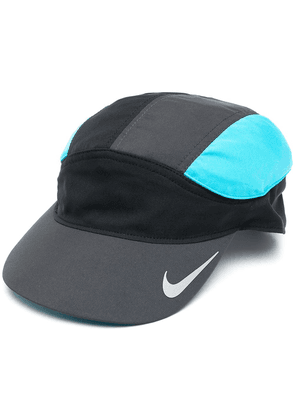 Nike Swoosh-print colour-block cap - Black