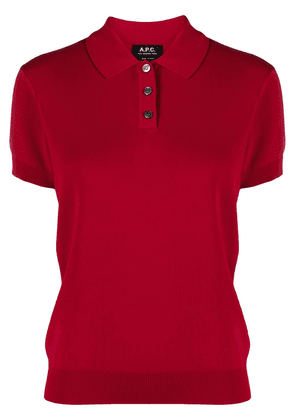 A.P.C. short-sleeve fitted polo shirt - Red