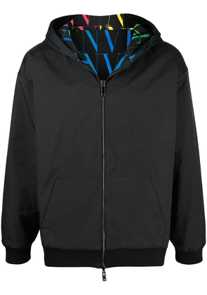 Valentino VLTN TIMES reversible zipped hoodie - Black