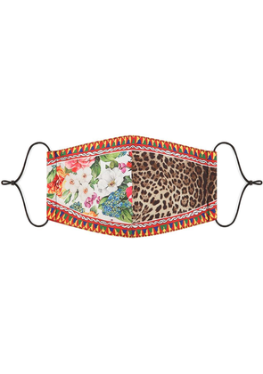 Dolce & Gabbana Patchwork face mask - Red