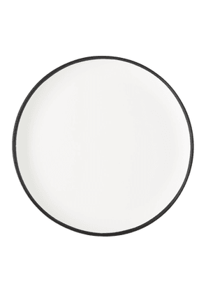 Tina Frey Designs White and Black Dinner Plate