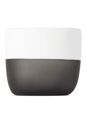 Tina Frey Designs White and Grey Two Color Planter